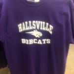 Hallsville Bobcats bobcat spritwear t shirt